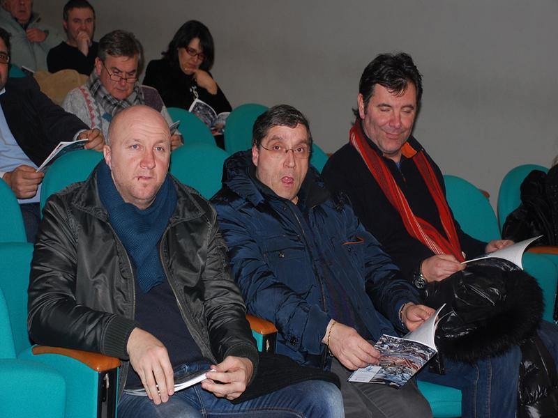 Ottavio Palladini, il presidente Roberto Pignotti e il dg Giulio Spadoni