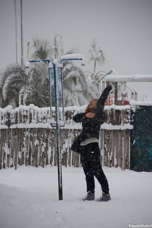 Neve a Porto d'Ascoli 4 febbraio 2012 (Fausto Olivieri)