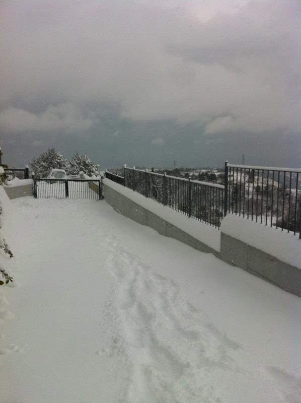 Neve a Ripatransone 3 febbraio 2012 (frazione Petrella)