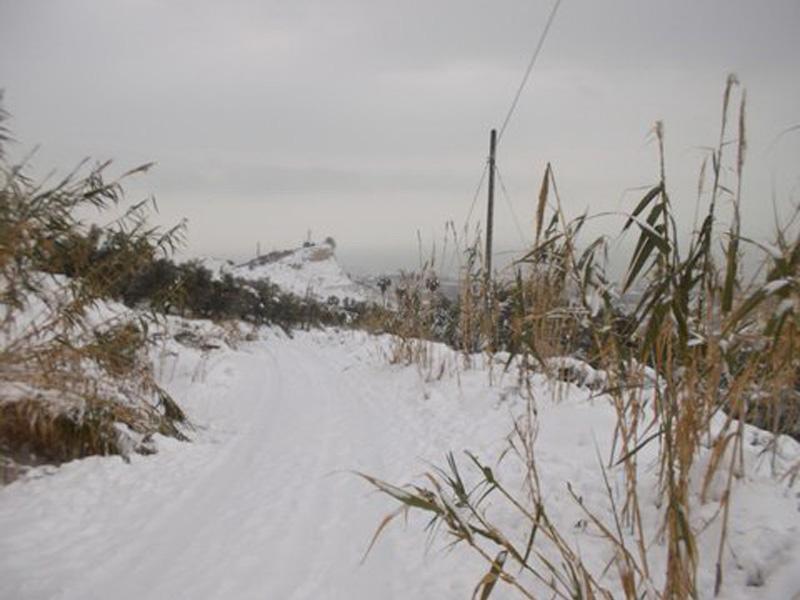 Neve in Riviera 5 febbraio 2012