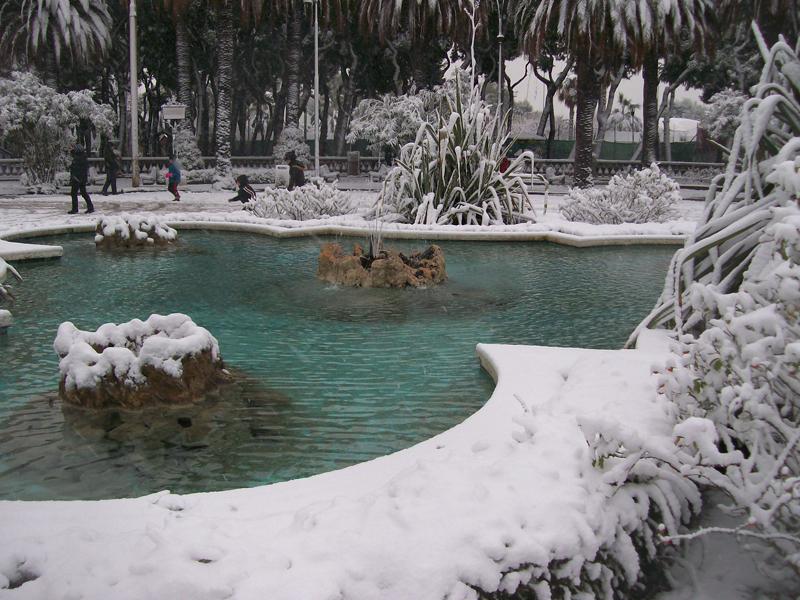 La neve a San Benedett il 3 febbraio , foto di Alfredo
