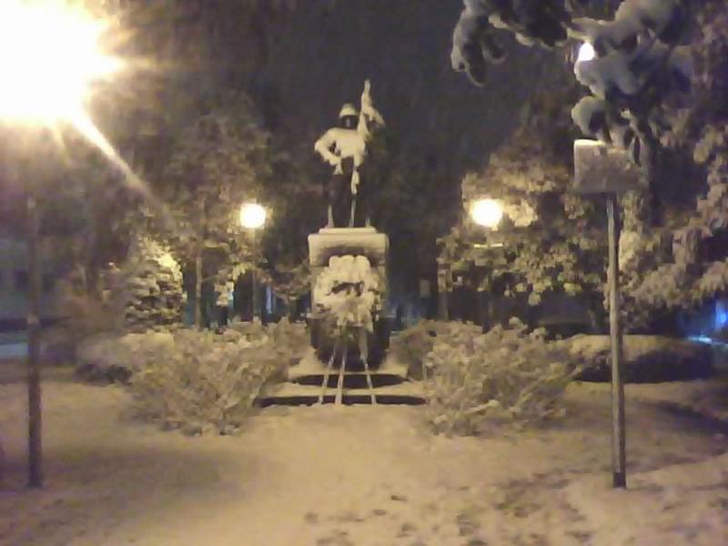 La neve a San Benedett il 3 febbraio, foto di Alfredo