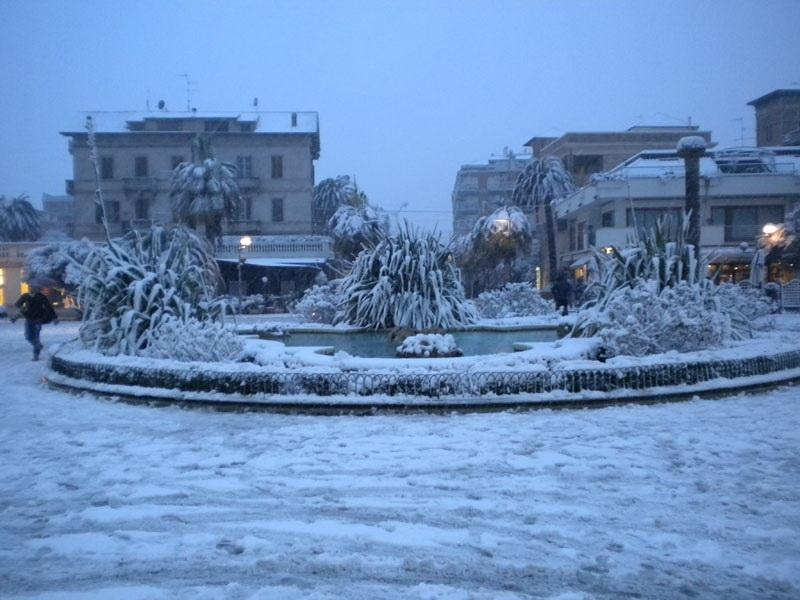 Neve a San Benedetto 3 febbraio 2012 (Mario Fabiani)