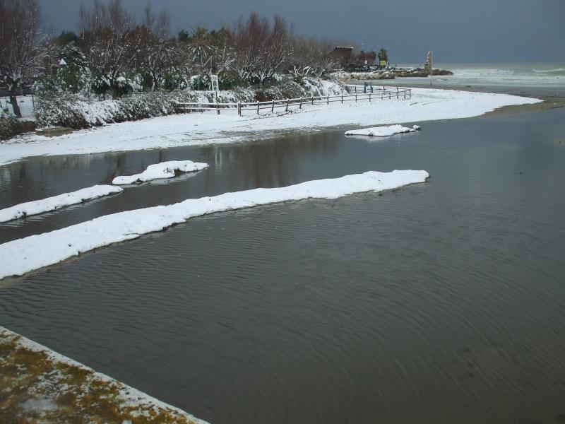 Neve a San Benedetto, foce Albula, 5 febbraio (Andrea Abate)