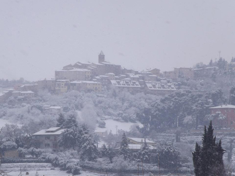 Neve a Spinetoli, 5 febbraio 2012. Foto di Sabrina