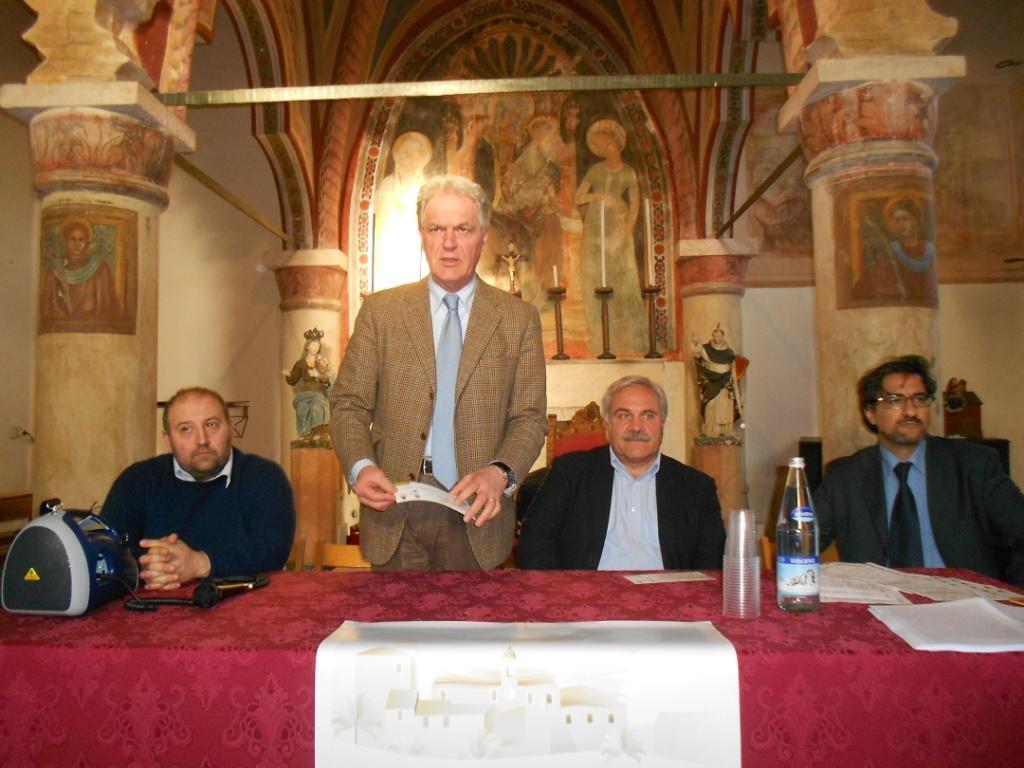 Da sinistra Andrea Maria Antonini, Piero Celani, Domenico D'Annibali e Luciano Bruni