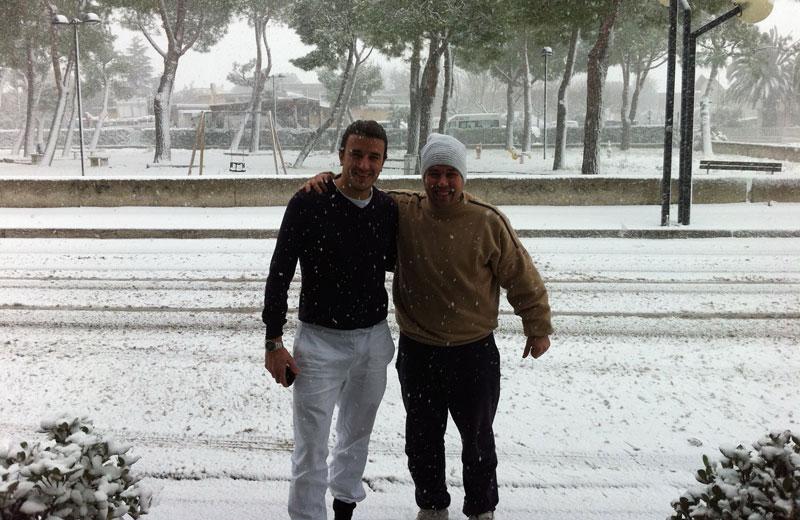 Neve a Villa Rosa 3 febbraio 2011 (Tenente Sberla e Colonello Hannibal Smith sotto la neve)