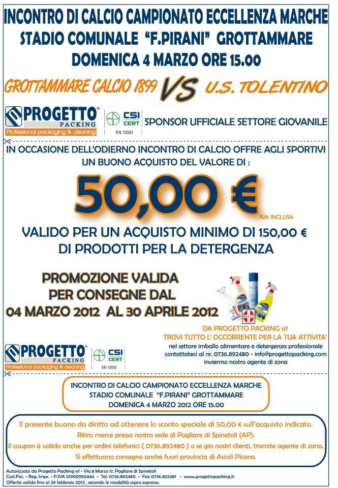 Promozione sfida Grottammare - Tolentino (Progetto Packing)
