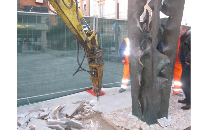 Abbattimento delle barriere architettoniche in Piazza Pericle Fazzini (1)