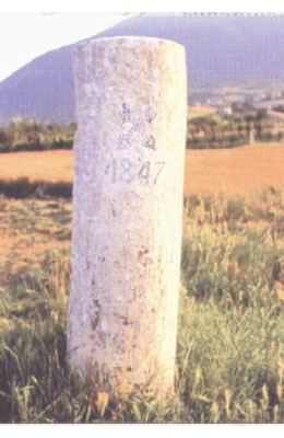 Cippo confinario nei pressi di Civitella del Tronto