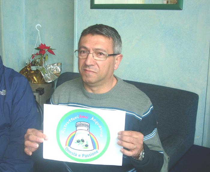 Giovanni Olivieri, candidato sindaco di Ristrutturiamo Acquaviva