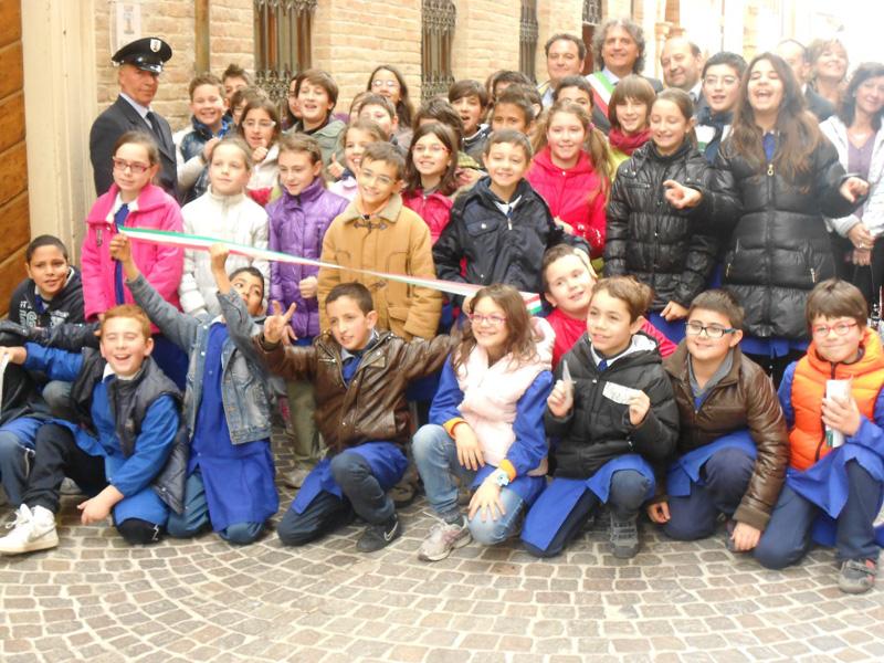 Gli alunni di Massignano che hanno partecipato all'incontro