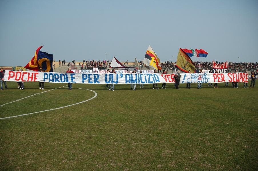 Gemellaggio tra i tifosi di Samb e Civitanova (Giammusso)