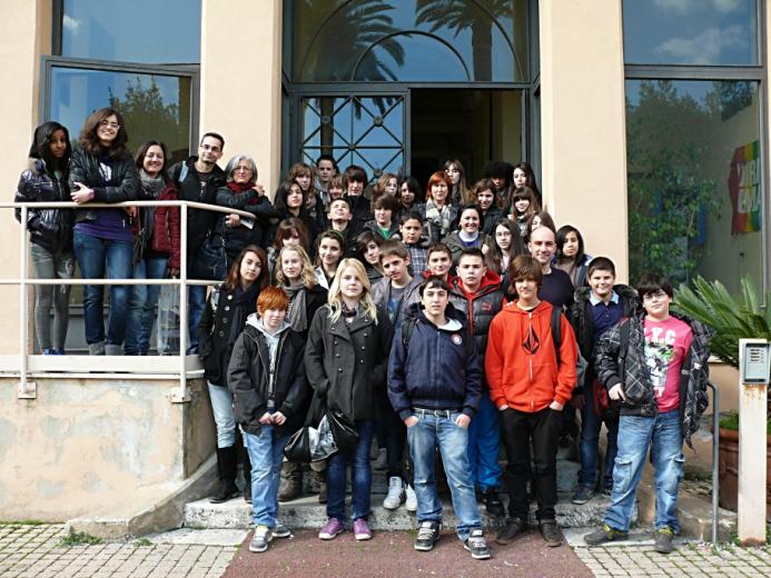 Gli studenti Francesi a Grottammare - Foto Antonio Biocca