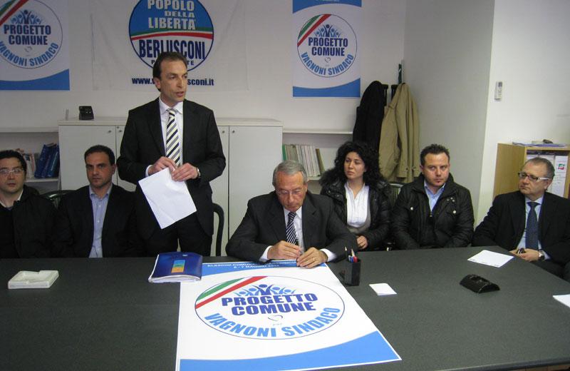 La conferenza stampa di presentazione della coalizione di centrodestra