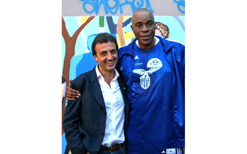 Da sinistra: Simone Santi e Abdul Jeelani