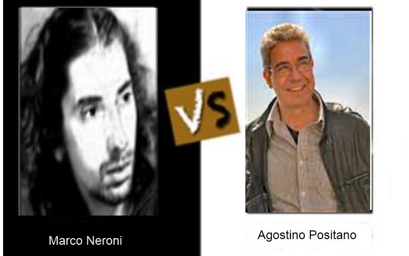 Match poetico a I lunedì d'autore tra Marco Neroni e Agostino Positano