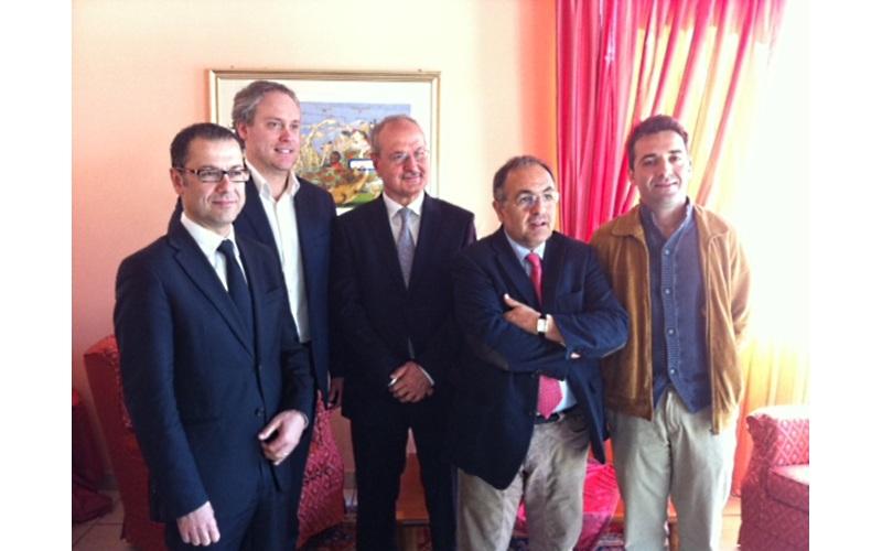 Presentazione candidato Pd Elezioni 2012 Ripatransone. Da sinistra Paolo D'Erasmo, Antimo Di Francesco, Remo Bruni, Luciano Agostini, Giovanni Piunti