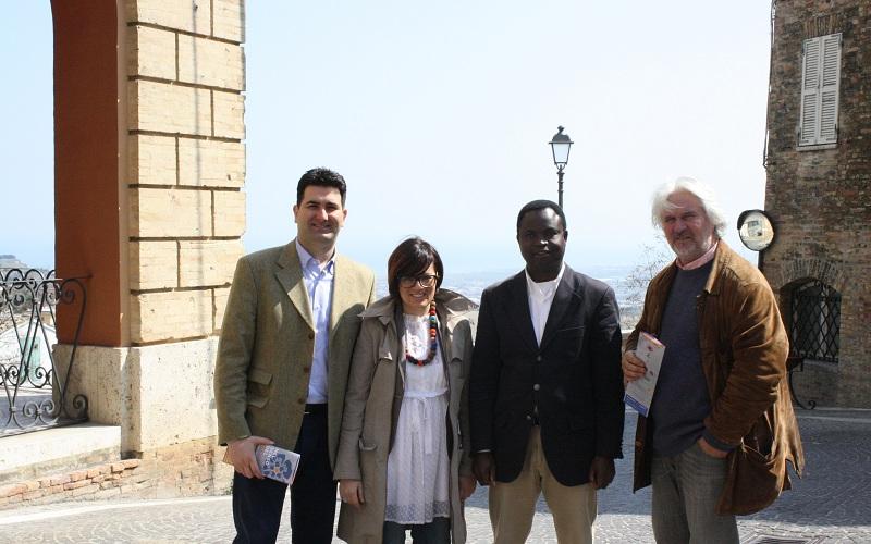 Partendo da sinistra, Stefano Stracci, Loriana Capocasa, Nimon B. Mawekiwe e Nazareno Luciani