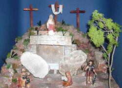 Un presepe pasquale tratto dal sito www.newsetvlucera.it