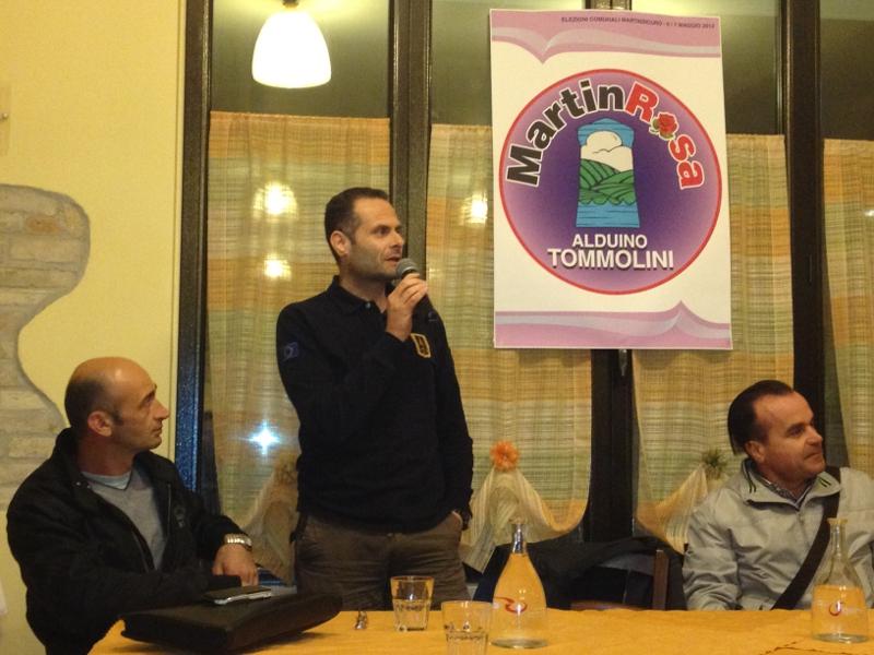 tre esponeti del gruppo Martin Rosa. Da sinistra: Gianni Ciarrocchi, Alduino Tommolini e Peppino Vallese