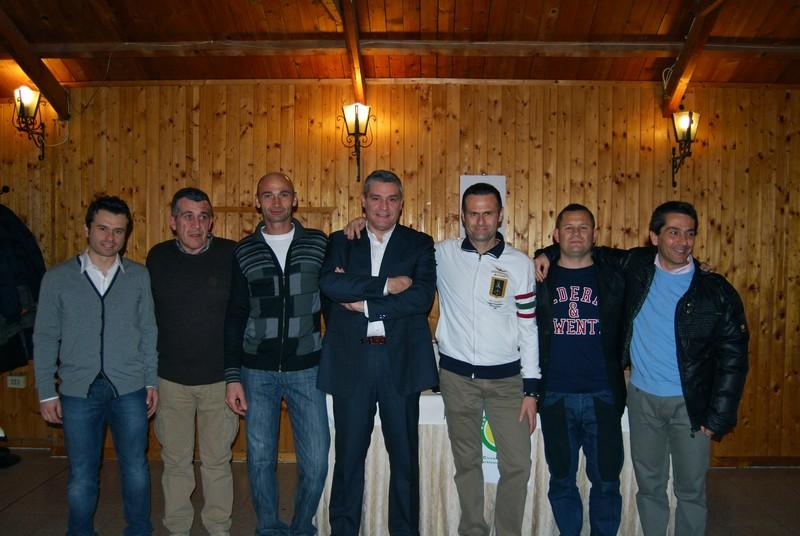 il nuovo direttivo del Circolo Tennis Martinsicuro. Da sinistra: Fabio Celestini, Franco Bucci, Gianni Ciarrocchi, Antonio Zambetta, Alduino Tommolini, Angelo Francia, Marino Vallese