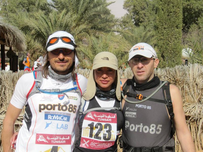 I 3 atleti nel Sahara