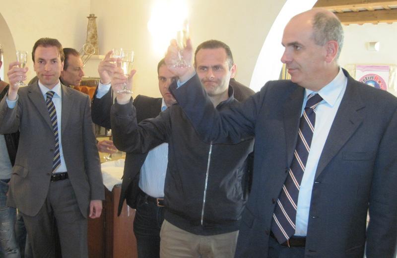 Massimo Vagnoni, Concetto Di Francesco, Alduino Tommolini e il senatore Paolo Tancredi