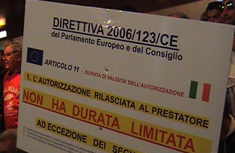 Protesta dei balneari italiani a Roma