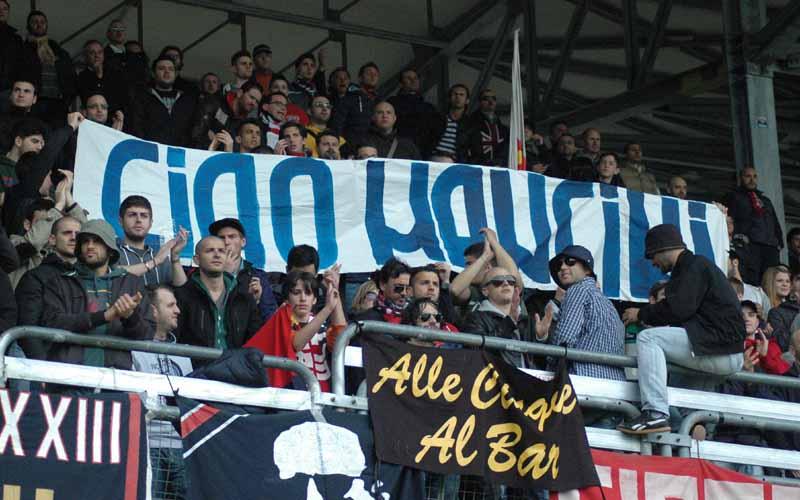 Ciao Mancini in curva