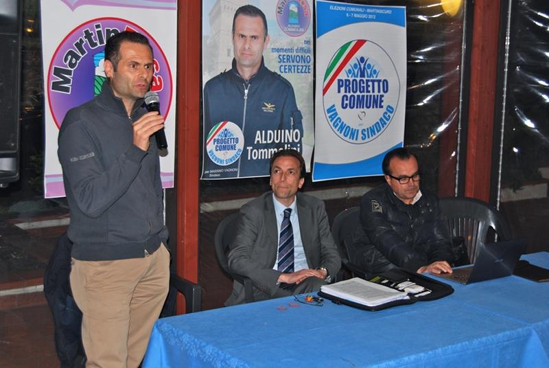 Alduino Tommolini, Massimo Vagnoni e Giuseppe Vallese