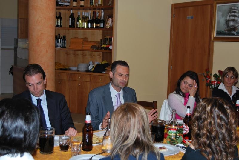 Alduino Tommolini e Massimo Vagnoni durante la campagna elettorale del 2011