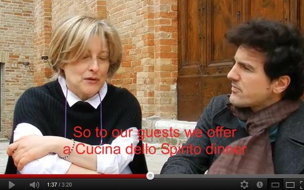 Ermetina Mira e Leonardo Gambardella durante il video di Storico Fresco per la Cucina dello Spirito
