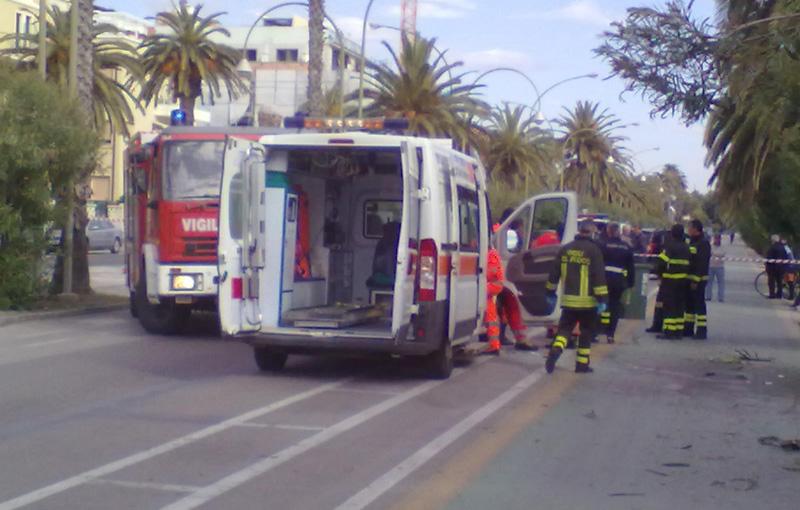 I soccorsi subito dopo l'incidente