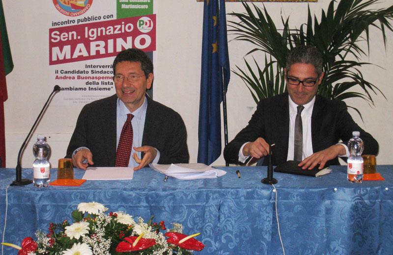 Ignazio Marino e Andrea Buonaspeme