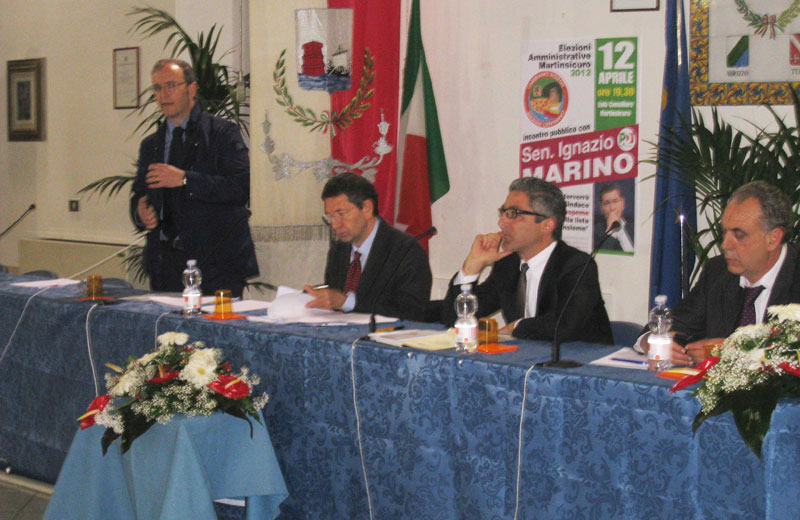 Robert Verrocchio, Ignazio Marino, Andrea Buonaspeme e Giovanni Lignini