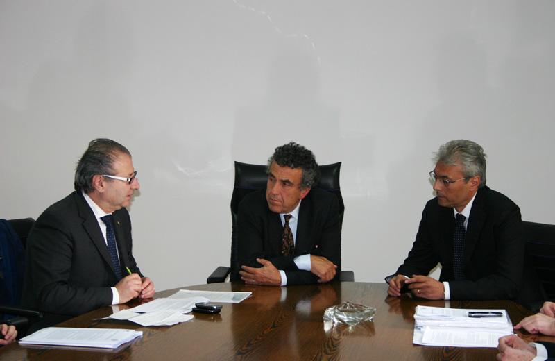 Il presidente della Provincia Catarra, il Ministro Barca e il governatore Chiodi