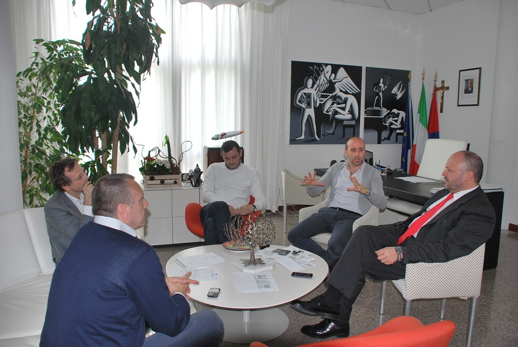 Incontro con Gaspari, Canducci e i rappresentanti dell'ente certificatore