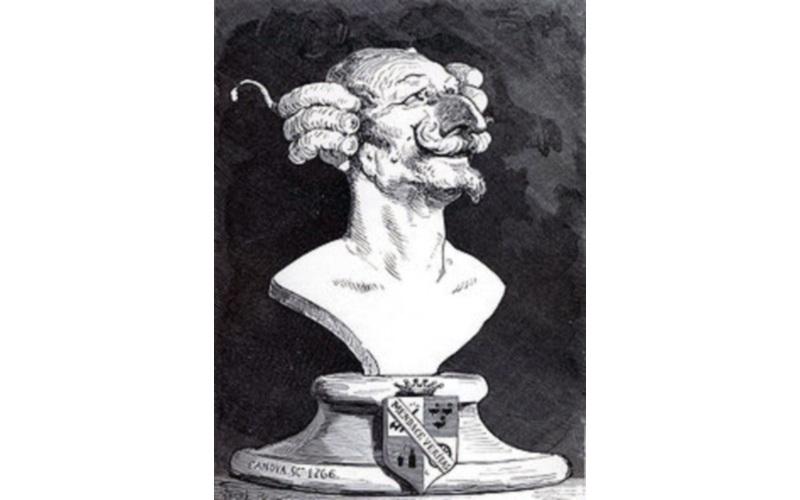 La caricatura del  Barone Munchausen di Gustav Doré