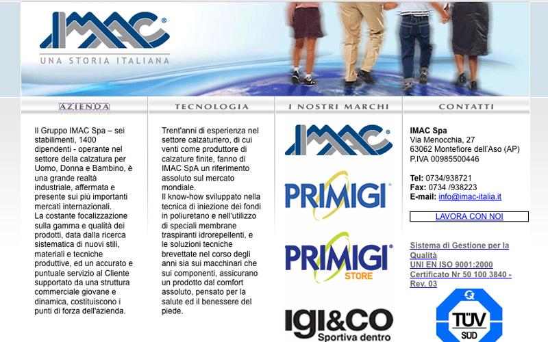 L'home page della Imac