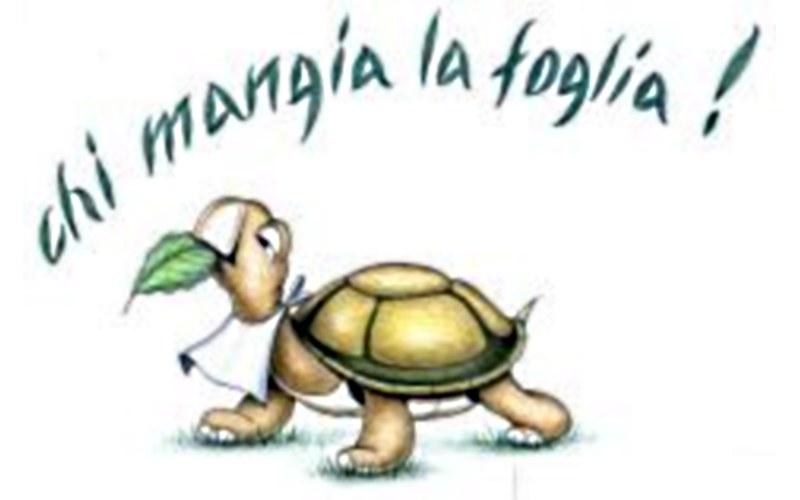 Logo dell'associazione  Chi Mangia la Foglia!