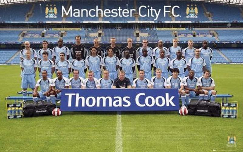 Una formazione del Manchester City