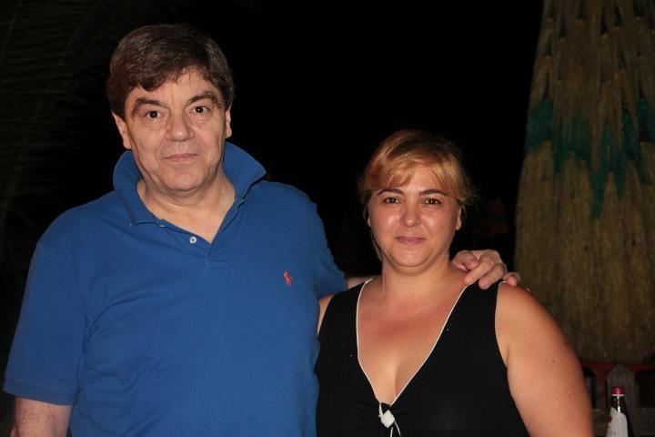 Renato Mattioli con la moglie