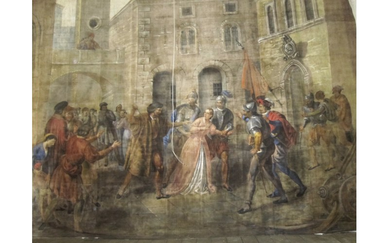 Sipario antico del Teatro Mercantini di Ripatransone