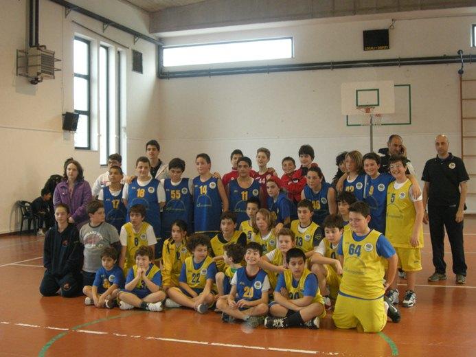 Squadre del torneo di mini basket cuprense