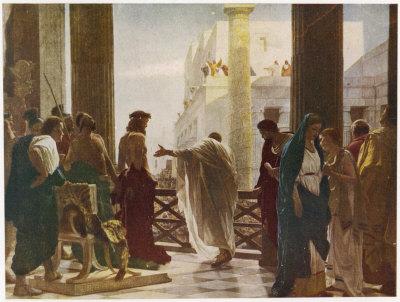 Un dipinto riproduce la scelta di Pilato