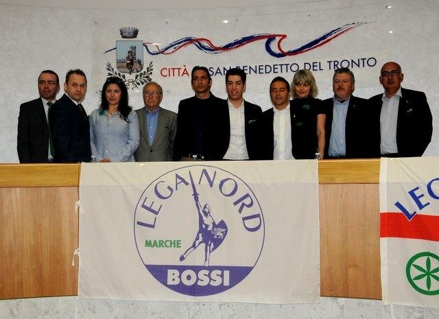 Renzo Bossi a San Benedetto