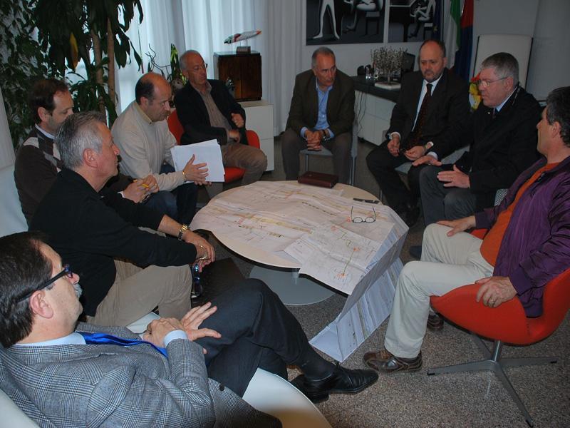Un momento dell'incontro fra Ciip e Comune