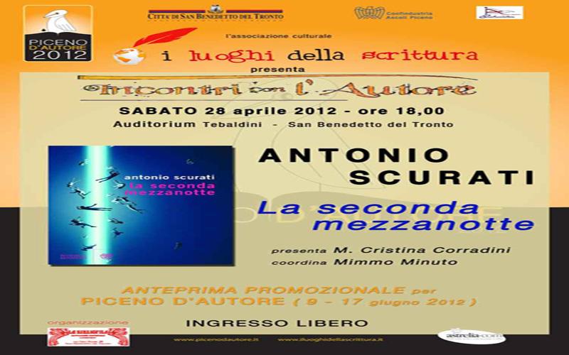 In anteprima per Piceno Autore, il libro di Antonio Scurati