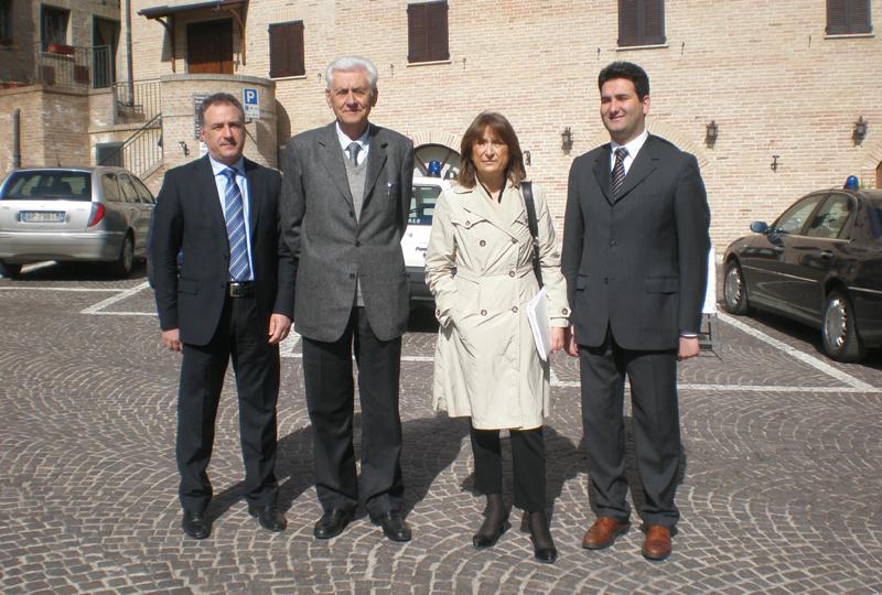 Da sinistra Angelo Canala, Nazzareno Tacconi, Graziella Patrizi e Stefano Stracci
